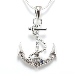 "Stunning 1 1/4"" Anchor Pendant Necklace"
